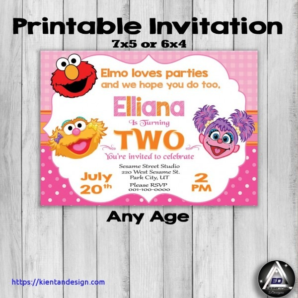 Elmo Birthday Party Invitations Elmo 1st Birthday Party