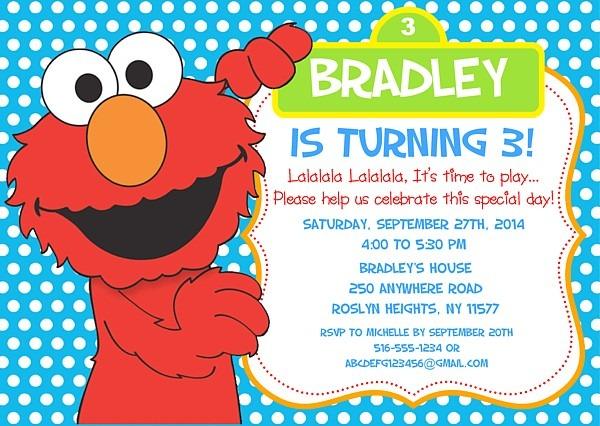 Elmo Invitation Elmo Ideal Elmo Party Invitations