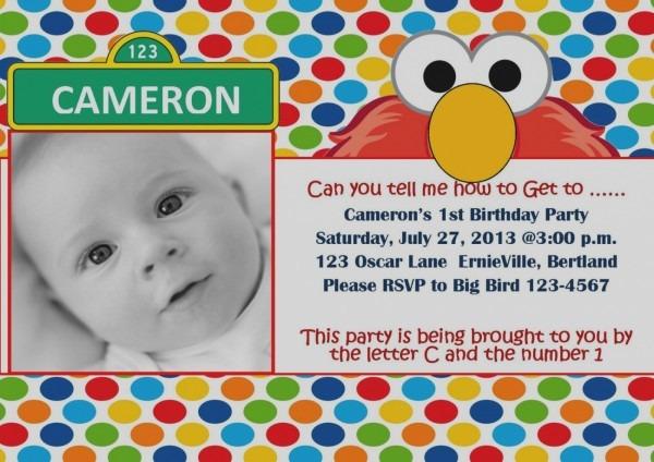 Elmo Personalized Invitations 1st Birthday Trend With Elmo