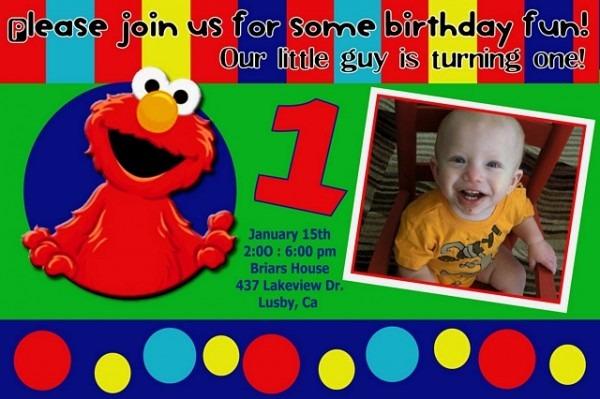 Elmo St Birthday Invitations Beautiful Elmo Birthday Invitations