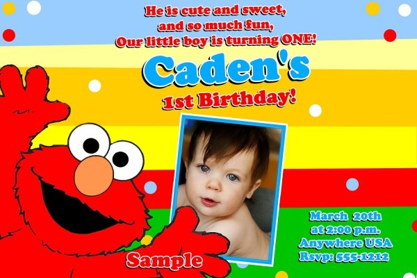 Elmo St Birthday Perfect Elmo Personalized Invitations 1st