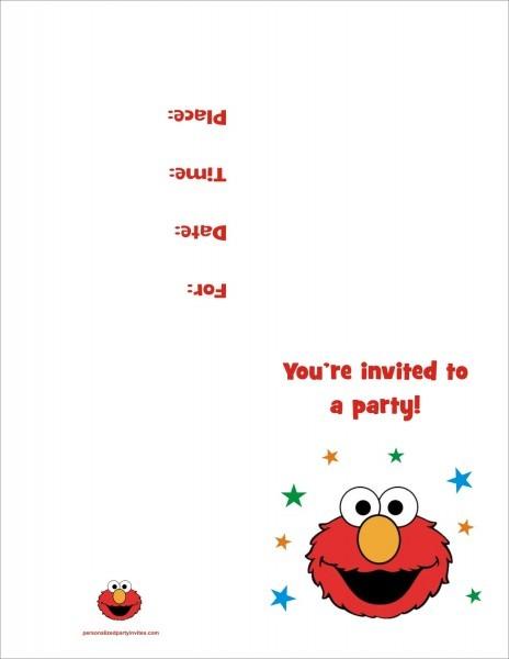 Elmo Birthday Invitations Personal Good Elmo Personalized