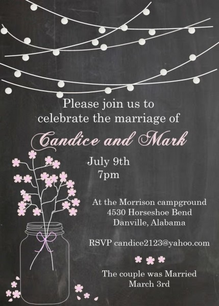 Eloping Party Invitations Vintage Elopement Party Invitations