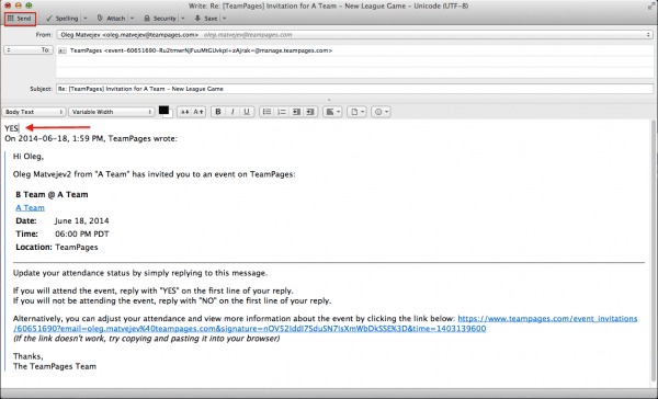 Reply To Event Invitations Via Email