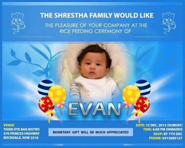 Evan – Invitation Poster Design