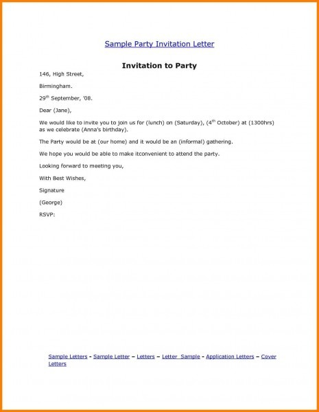 Business Event Invitation Formal Invitation Template  Sample