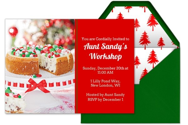 Sandra Lee's Holiday Invitations And Thank