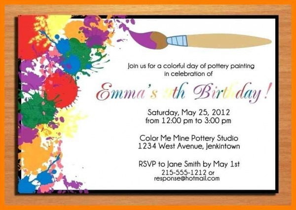 Example Of Birthday Invitation Birthday Invitations Text Example