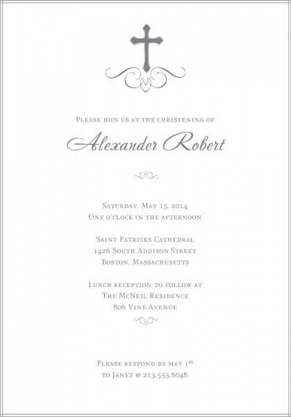 Baptism Invitations Templates Free Download
