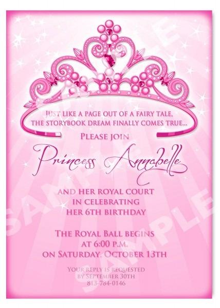 Free Free Template Princess Birthday Party Invitation Wording