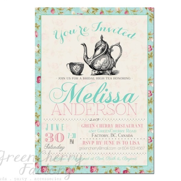 Tea Party Invitation Templates To Print
