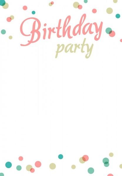 Birthday Party  Invitation Free Printable