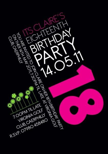 18th Birthday Invitation!  Invite  Birthday  Pink  Graphics