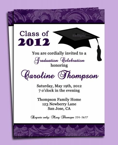 Graduation Party Or Announcement Invitation Printable