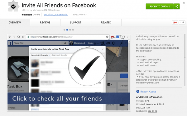 Invite All Your Friends To Facebook Page In One Click