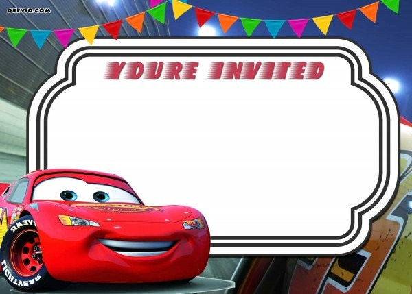 Free Lightning Mcqueen Invitation Cards Birthday Printable