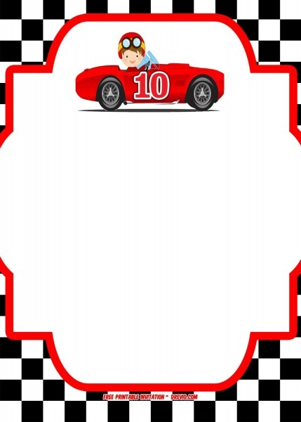 Race Car Birthday Invitations For The Invitations Design Of Your