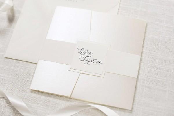 Elegant & Formal Cream   Ivory, Champagne   Opal Shimmer Square