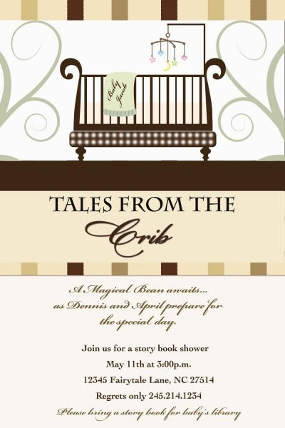 Fancy Book Themed Baby Shower Invitations 33 With Additional