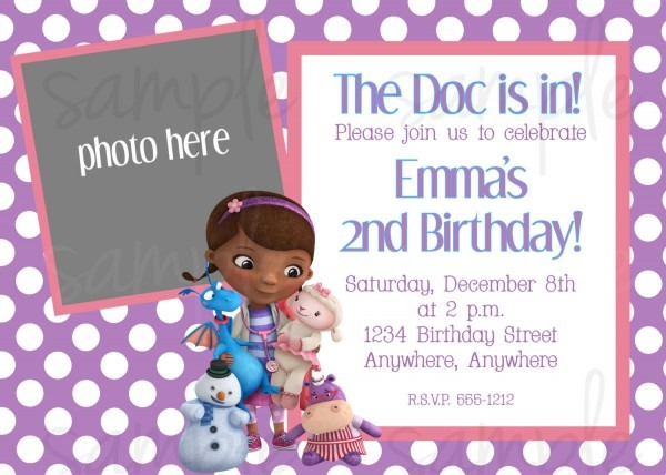 Fancy Doc Mcstuffins Birthday Invitations 59 About Remodel