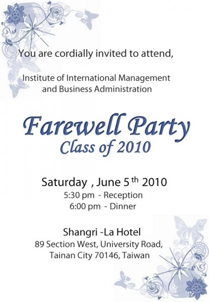 Going Away Party Superb Farewell Party Invitation Wording