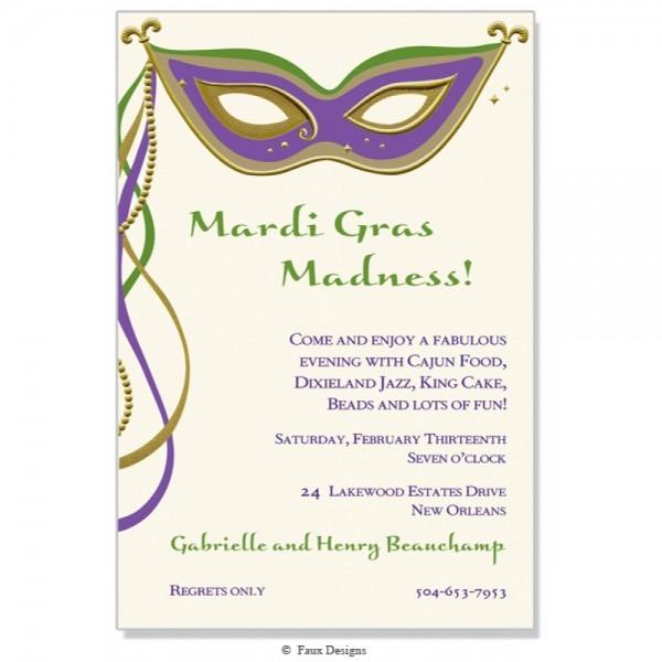 Masque Mardi Gras Invitation []