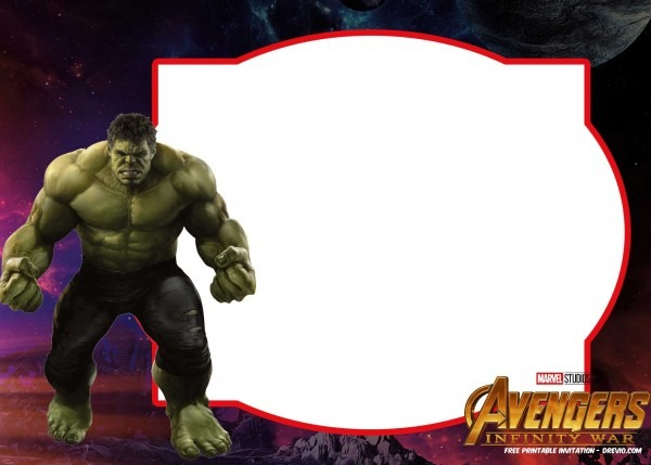 Invitation Ideas  Hulk Birthday Invitation Template