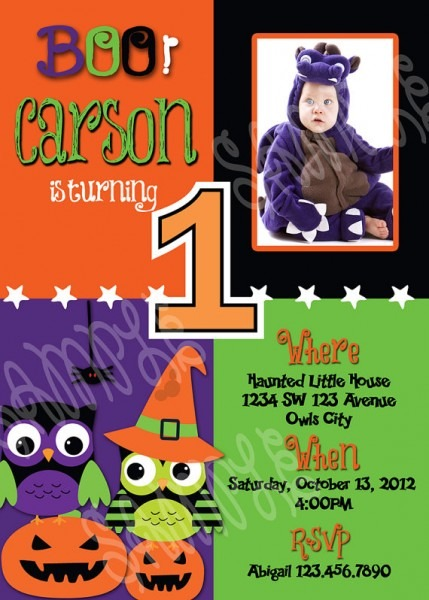1st Birthday Party Halloween