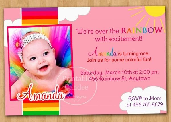 Sample Of 1st Birthday Invitation Card  Sample Of 1st Birthday