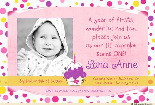 First Birthday Party Invitation Message Best With First Birthday