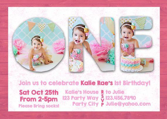 Invitation Ideas  1st Birthday Invitation Template Free Download
