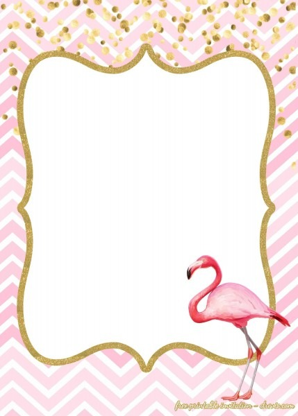 Flamingo Invitation Template Free Perfect With Flamingo Invitation