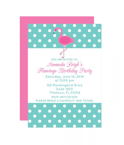 Flamingo Invitation Template Free Popular With Flamingo Invitation