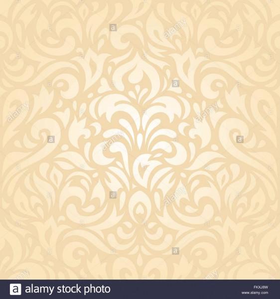 Floral Wedding Peach Retro Decorative Invitation Wallpaper
