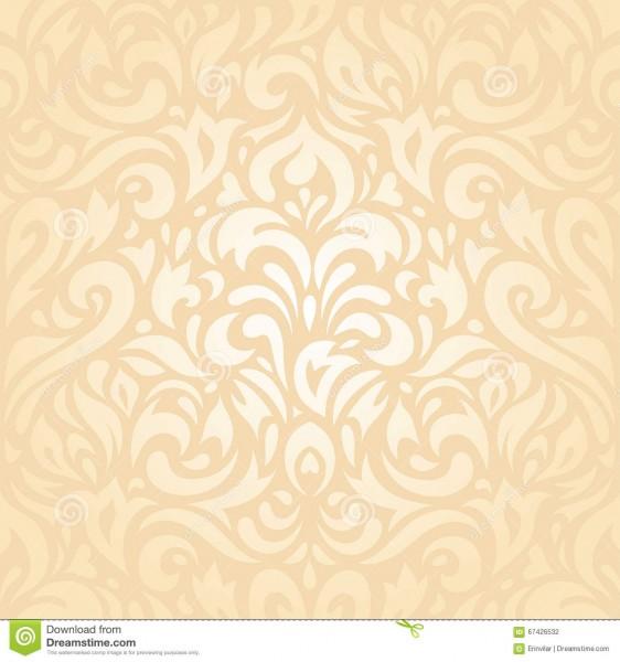 Floral Wedding Peach Retro Invitation Background Design