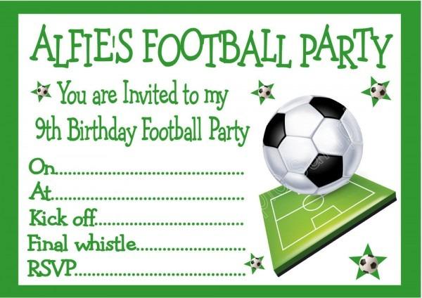 Invitation  Football Party Invitations Templates Free