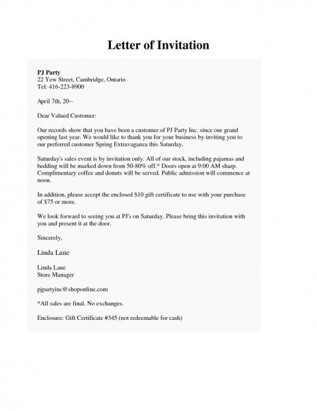 Formal Invitation Letter For Inauguration Fre Downloads Formal