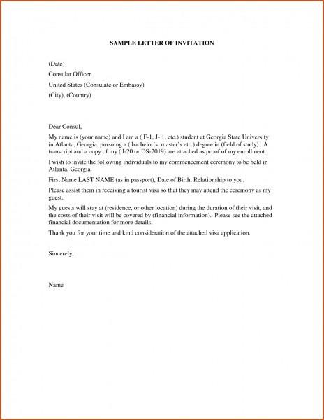 Paraguay Paraguay Visa Form I Sample Invitation Letter English