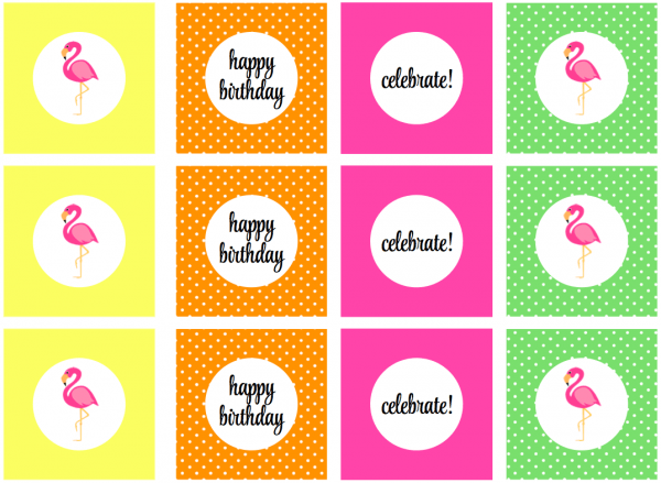We Heart Parties  Free Printables Flamingo Party Free Printables