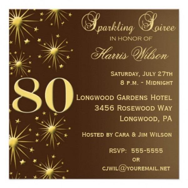 Free 60th Birthday Invitation Templates — Birthday Invitation Examples