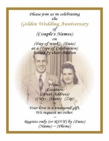 Free Anniversary Invitation Templates Copy Wedding Template