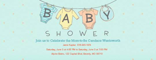 Baby Shower Email Invitations Baby Shower Email Invitations With A