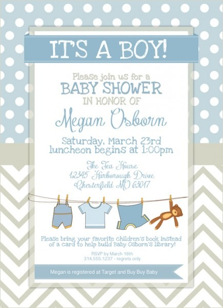 Baby Blue Stripes New Free Printable Baby Shower Invitations