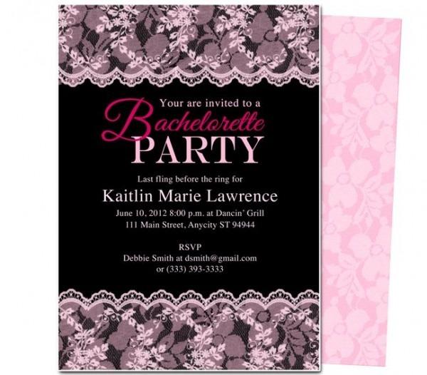 Free Bachelorette Party Invitation Fancy Bachelorette Party