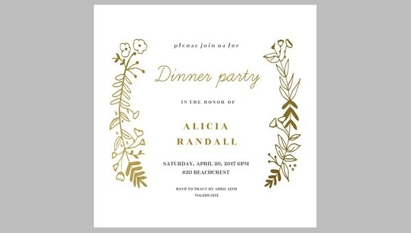 Free Dinner Party Invitation Templates Elegant With Free Dinner