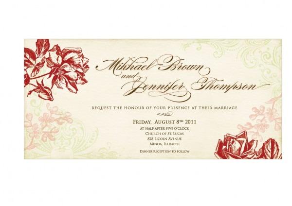 Free Download Wedding Invitation Card Template Best Sample Modern