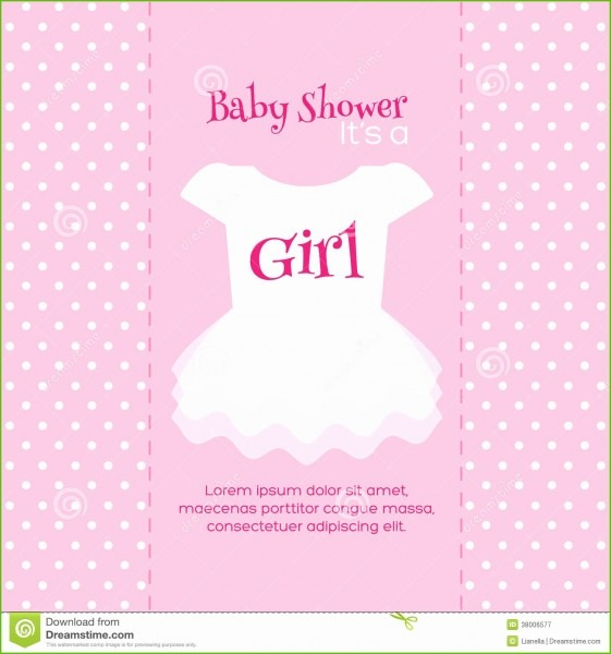 Free Editable Baby Shower Invitation Templates Pleasant Girl
