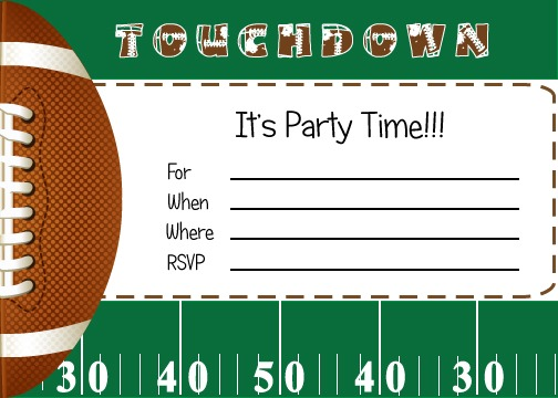 Free Football Party Printables From Fabulous Free Printable Sports