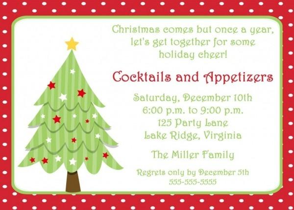 Free Christmas Invitation Templates Ukchristmas Template