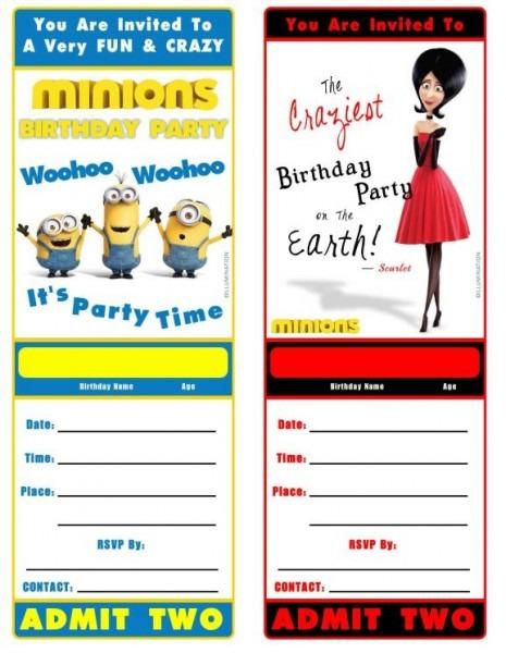 Minion Perfect Minions Birthday Invitations Free Online